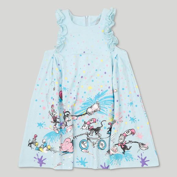 Dr Seuss Dresses Cat In The Hat Blue Dress Toddler Girl Poshmark